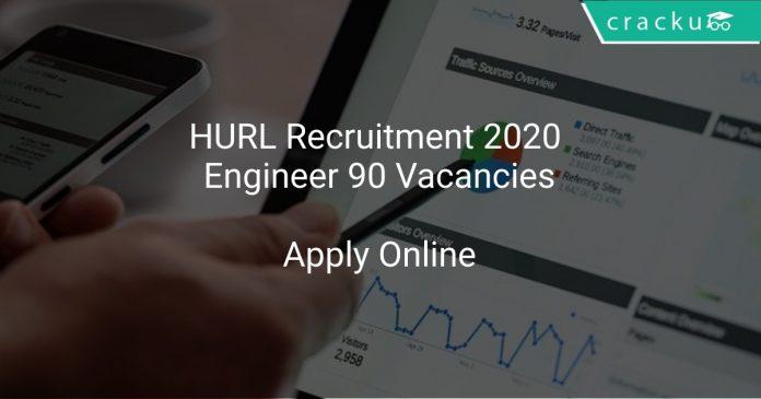 HURL Recruitment 2020 Engineer 90 Vacancies
