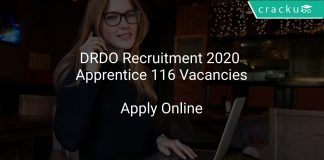 DRDO Recruitment 2020 Apprentice 116 Vacancies