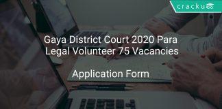 Gaya District Court 2020 Para Legal Volunteer 75 Vacancies