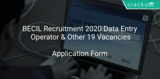 BECIL Recruitment 2020 Data Entry Operator & Other 19 Vacancies