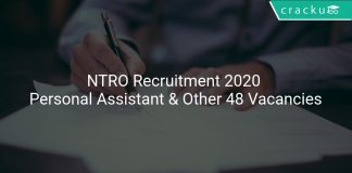 NTRO Recruitment 2020