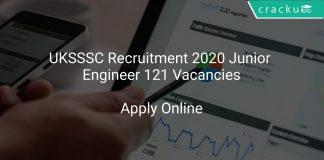 UKSSSC JE Recruitment 2020