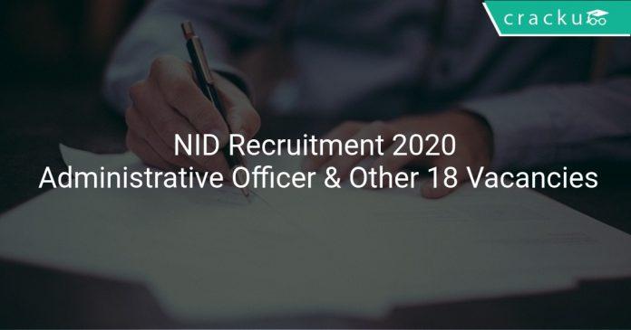 NID Recruitment 2020