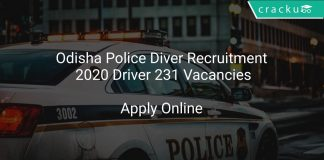 Odisha Police Diver Recruitment 2020 Driver 231 Vacancies