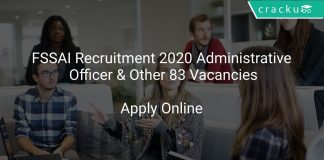 FSSAI Recruitment 2020 Administrative Officer & Other 83 Vacancies