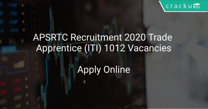 APSRTC Recruitment 2020 Trade Apprentice (ITI) 1012 Vacancies
