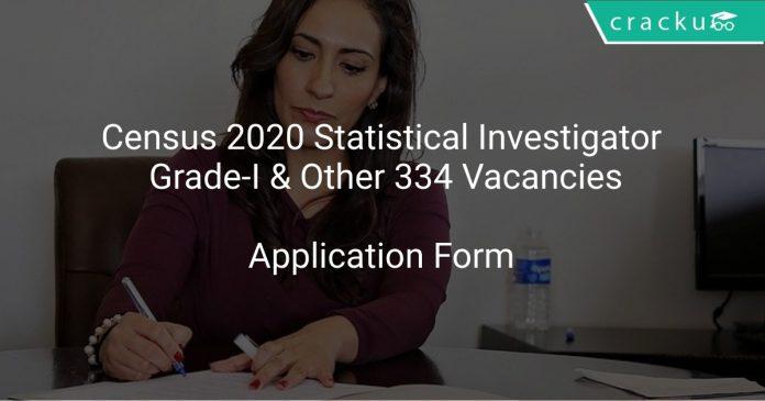 Census Of India Recruitment 2020