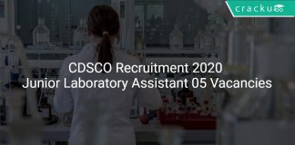 CDSCO Recruitment 2020