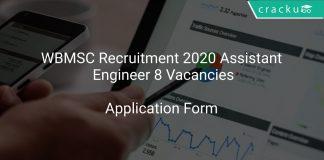 WBMSC Recruitment 2020