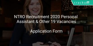 NTRO Recruitment 2020 Personal Assistant & Other 19 Vacancies