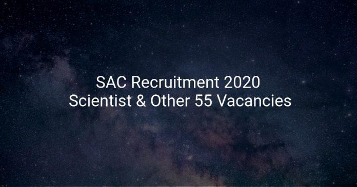 SAC Recruitment 2020
