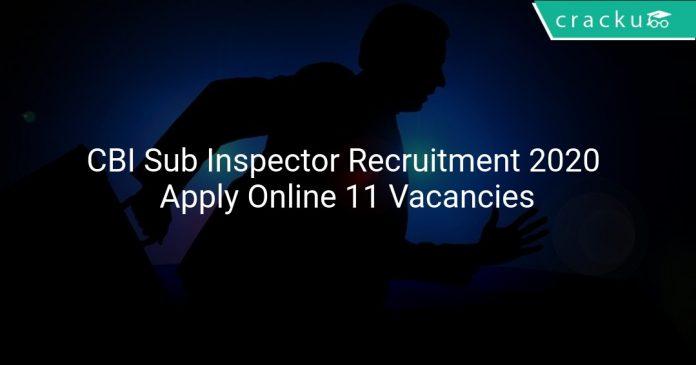 CBI Sub Inspector Recruitment 2020