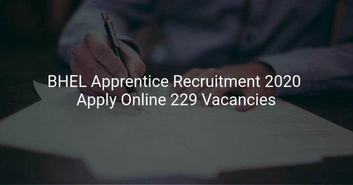 BHEL Apprentice Recruitment 2020
