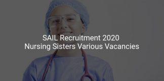 SAIL Recruitment 2020