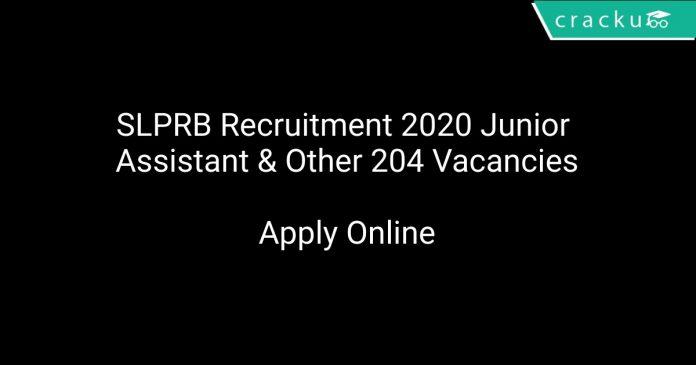 SLPRB Recruitment 2020