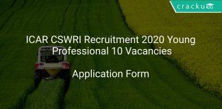 ICAR CSWRI Recruitment 2020 Young Professional 10 Vacancies