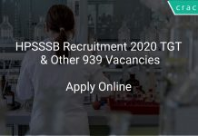 HPSSSB Recruitment 2020 TGT & Other 939 Vacancies