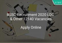 BSSC Recruitment 2020 LDC & Other 12140 Vacancies