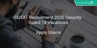 CUSAT Recruitment 2020