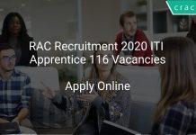 RAC Recruitment 2020