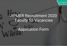 JIPMER Recruitment 2020 Faculty 53 Vacancies
