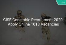CISF Constable Recruitment 2020