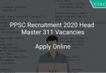 PPSC Recruitment 2020 Head Master 311 Vacancies