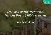 Yes Bank Recruitment 2020 Various Posts 3700 Vacancies