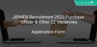 JIPMER Recruitment 2020 Purchase Officer & Other 22 Vacancies