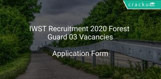 IWST Recruitment 2020 Forest Guard 03 Vacancies