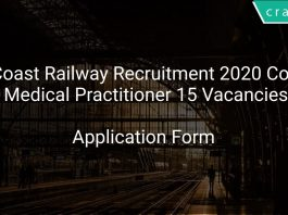 East Coast Railway Recruitment 2020