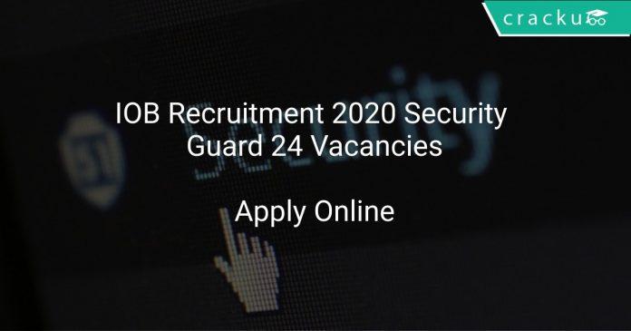 IOB Recruitment 2020