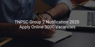 TNPSC Group 2 Notification 2020