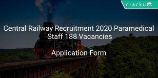 Central Railway Recruitment 2020 Paramedical Staff 188 Vacancies