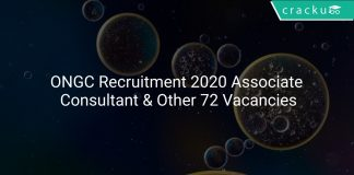 ONGC Recruitment 2020 Associate Consultant & Other 72 Vacancies
