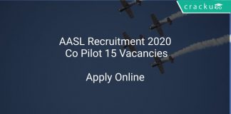 AASL Recruitment 2020 Co Pilot 15 Vacancies