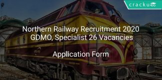 Northern Railway Recruitment 2020 GDMO, Specialist 26 Vacancies