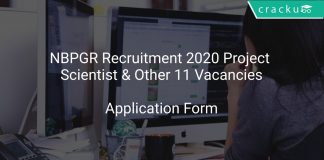 NBPGR Recruitment 2020 Project Scientist & Other 11 Vacancies