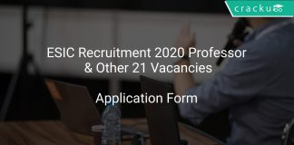 ESIC Recruitment 2020 Professor & Other 21 Vacancies