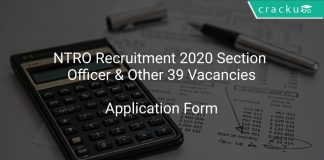 NTRO Recruitment 2020 Section Officer & Other 39 Vacancies
