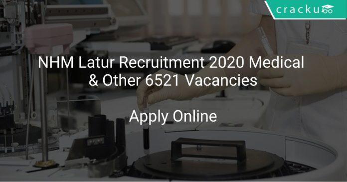 NHM Latur Recruitment 2020