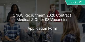 ONGC Recruitment 2020 Contract Medical & Other 08 Vacancies