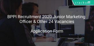 BPPI Recruitment 2020 Junior Marketing Officer & Other 24 Vacancies