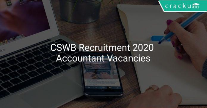 CSWB Recruitment 2020