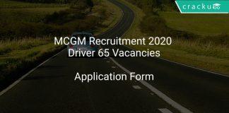 MCGM Recruitment 2020 Driver 65 Vacancies