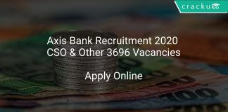 Axis Bank Recruitment 2020 CSO & Other 3696 Vacancies