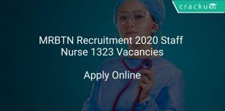 MRB TN Recruitment 2020