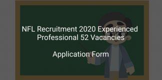 NFL Recruitment 2020 Experienced Professional 52 Vacancies