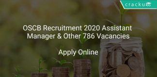 OSCB Recruitment 2020 Assistant Manager & Other 786 Vacancies