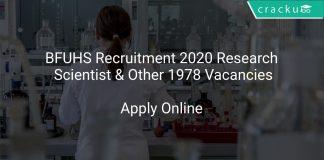 BFUHS Recruitment 2020 Research Scientist & Other 1978 Vacancies
